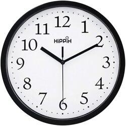 Classic Easy to Read Non-Ticking Round Quartz Wall Clock