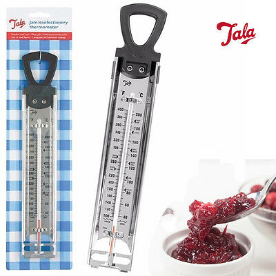 TALA Steel Jam Sugar Thermometer Cooking Candy Deep Fry Kitchen Temp Check Stick