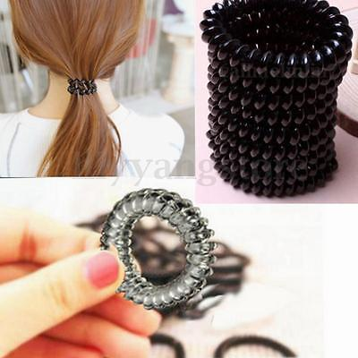 3X Traceless Elastic Telephone Wire Cord Head Ties Hair Band Rope Ponytail Ring
