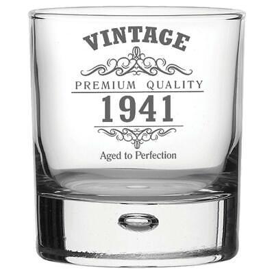 Vintage 1941 80th Geburtstag Bubble Basis Whisky Glas