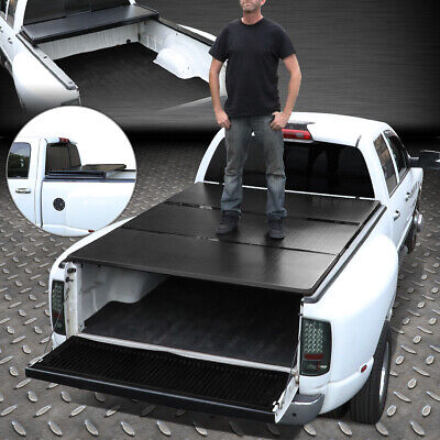 FOR 97-03 FORD F150 6.5FT SHORT BED ALUMINUM FRAME TRI-FOLD HARD TONNEAU (03 Ford F150 Short Bed)