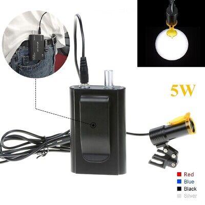 Dental 5w Led Headlight Lamp With Filter Belt Clip For Binocular Loupes Black