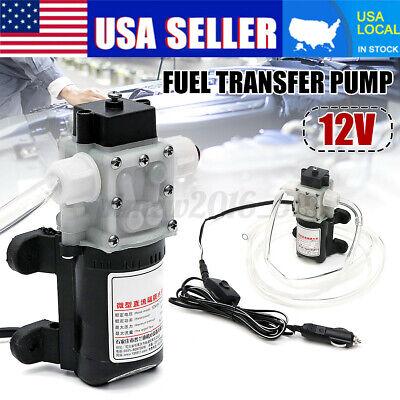 12v Fuel Transfer Pump 4lmin Oil Diesel Gas Gasoline Kerosene Car Tractor