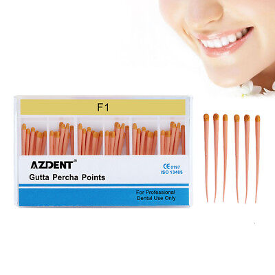 60pcsbox Azdent Gutta Percha Points Tips F1 Dental Root-canal Obturating Points