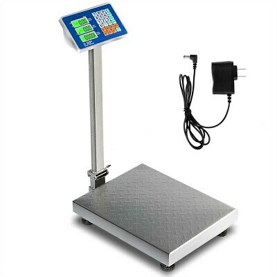 Topbuy 660lbs Weight Platform Computing Digital Floor Scale Luggage Weigh Silver