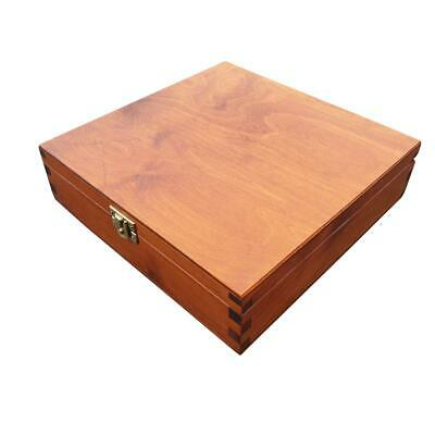 WOODEN BOX 23x23x6cm IN LIGHT BROWN COLOUR