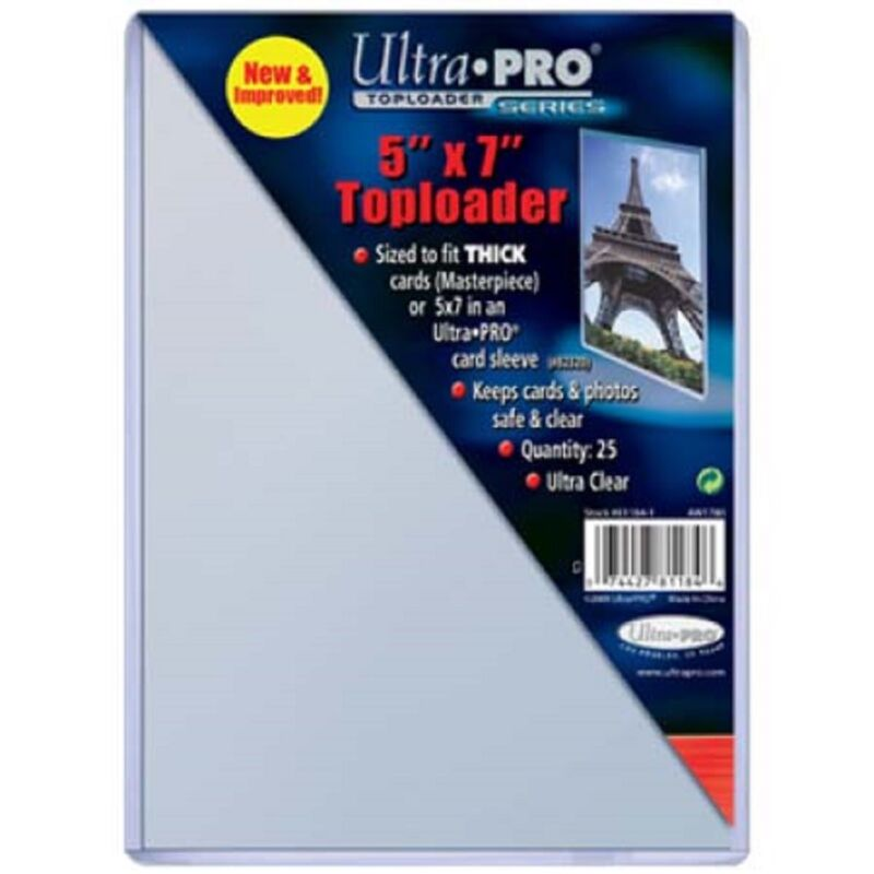 25 Ultra Pro 5x7 Toploaders Top Loaders Postcard Photo Holders Storage 5 x 7