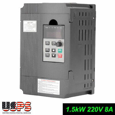 1.5kw Single Phase Motor Speed Control Vfd Variable Frequency Drive Inverter