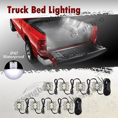 8PC White LED Truck Bed/Rear Work Box Lighting Kit Trunk Light for All Pickup