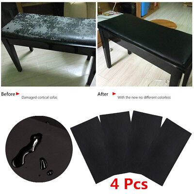 4 Sheets Durable Synthetic Leather Repair Patch Renew Aging Furniture Surfaces