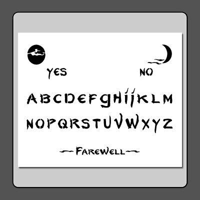 Halloween Stencils Ghost (10 X 12 Ouija/Spirit/Ghost Board STENCIL Spooky/Halloween/Moons)