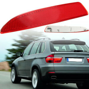 Red Rear Left Side Bumper Reflector For BMW X5 E70 2007-2013 63217158950 US NEW