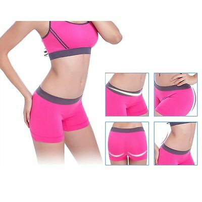Seamless Stretch Shorts  Spandex Workout Basic Plain Tight Yoga Gym Pink Hot