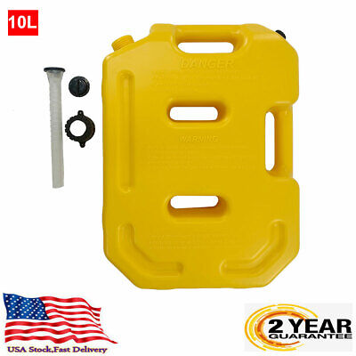 Jerry Can Gas Fuel Tank 2.6gallon10l Petrol Motorcyclecar Storage Container Us