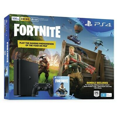 Sony PlayStation 4 500GB Fortnite Neo Versa Console Bundle - Jet Black