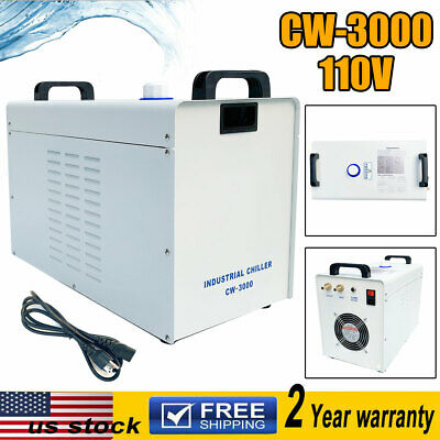 110v Cw-3000 Industrial Water Chiller For Cnc Laser Engraver Engraving Machines