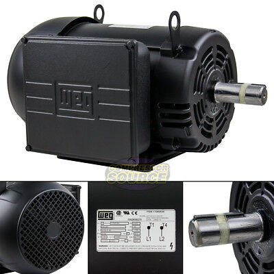 7.5 Hp Air Compressor Duty Electric Motor 215t Frame 1760 Rpm Single Phase Weg