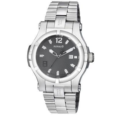 New Big Mens Renato T-Rex Swiss ETA 2824 Automatic 25 Jewel 50mm Gray Dial Watch