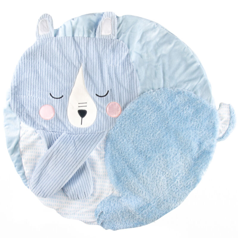 """Manhattan Toy Company 30"""" Plush & Crinkle Baby Travel Play Mat Infant Tummy Time"""