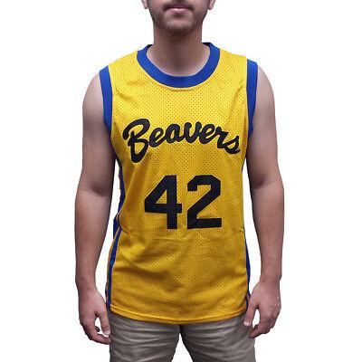 Scott Howard #42 Beavers Basketball Jersey Teen Wolf Costume 80s Movie Gift (80s Basketball Costume)