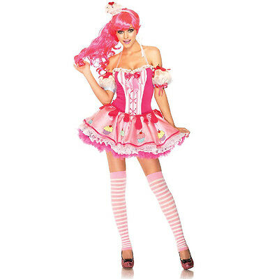 Adult Candyland Costume (Candyland Baby Cake 3 Piece Sexy Adult Costume Rave Party Wear Leg Avenue)