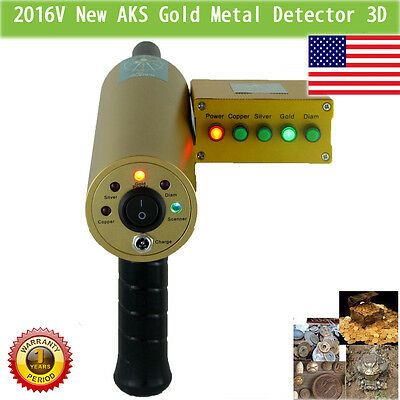 Perfessional AKS gold metal Detector Multi-function 2016V finder hunter 3D Diamo