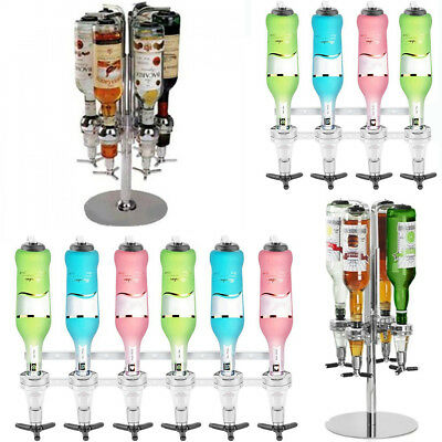 WALL MOUNTED & ROTARY STAND DRINK OPTIC DISPENSER PARTY BAR BUTLER 4 to 6 BOTTLE ()