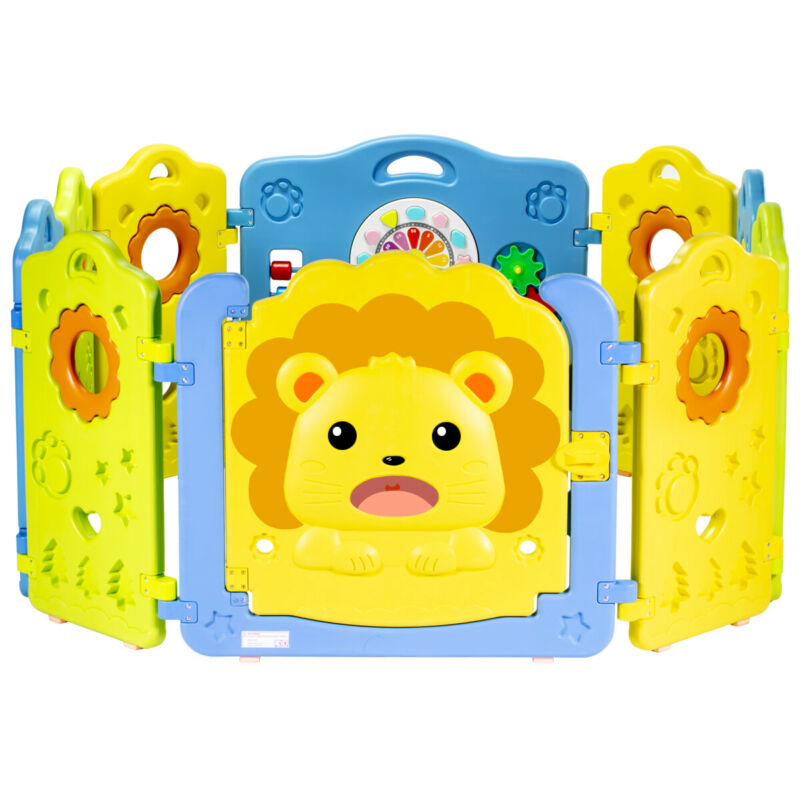 Baby Playpen Kids Activity Center Safety Play Yard 10 Panels OR 4 Panel Add On