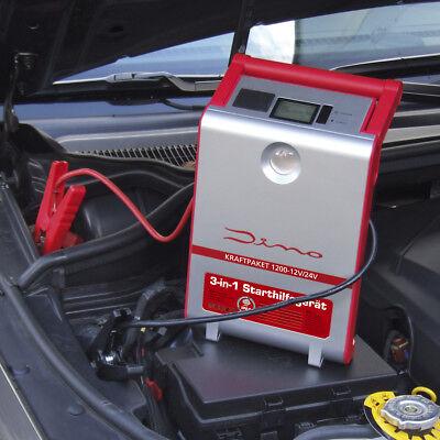 Dino KRAFTPAKET 12V 24V 1200A Starthilfegerät Mobile Batterie Starthilfe  Mobile Batterie Pack