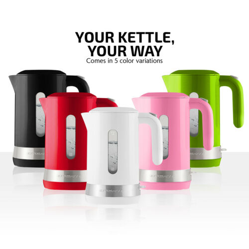 Ovente Electric Hot Water Kettle 1.8L with Prontofill Lid 1500 Watt KP413 Series
