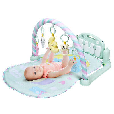 Baby Gym Play Mat 3 in 1 Fitness Music and Lights Fun Piano Activity Center Toys