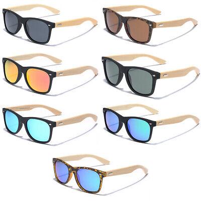 Polarized Bamboo Wood Men Women Sunglasses Retro Vintage Wooden Frame (Bamboo Frame Sunglasses)