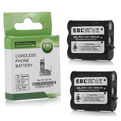 2x 1500mAh P511 Cordless Phone Battery For Panasonic P-P511 HHR-P402 TYPE 24