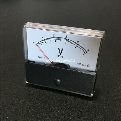 1pcs Dh670 Dc 5v Analog Panel Meter Volt Voltage Meter Voltmeter Gauge 0-5v