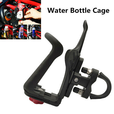 Motorcycle Retractable Crash Bar Water Bottle Cage Drinking Cup Bracket Holder ()