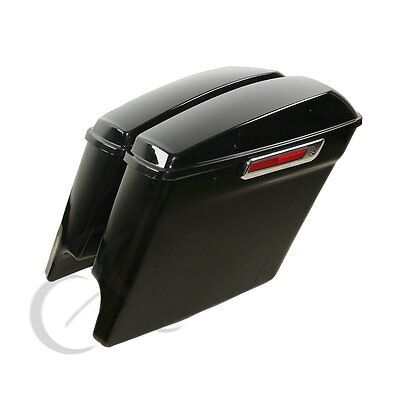 """5"""" Stretched Extended Saddlebags For Harley Touring Road King Street Glide 2014+"""