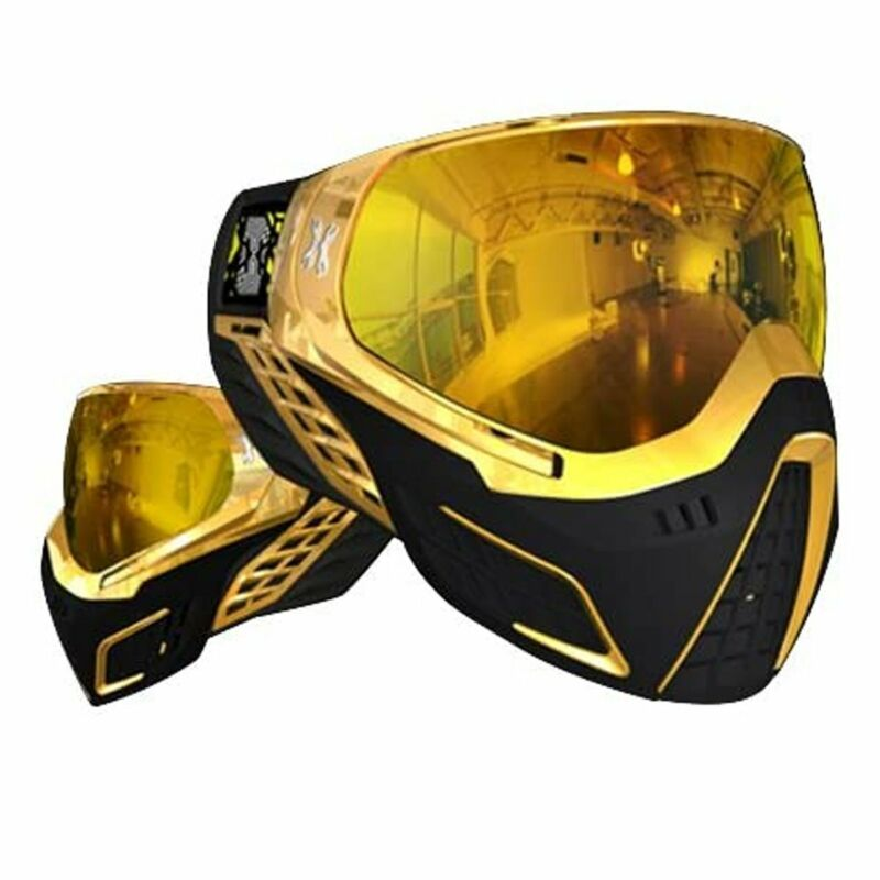 HK Army Paintball KLR Thermal Mask Goggles Metallic Gold - Gold Lens
