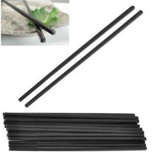 Chopsticks Black Sushi Chinese Dinner Rice Long 24CM Plain MELAMINE 12 x Sticks