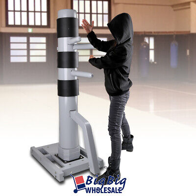 Wood Training Wing Chun Target Dummy Practice Martial Arts Silver Structure Base