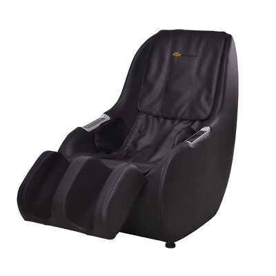 Black Electric Full Body Massage Chair Roller 3D Kneading Knocking PU Leather