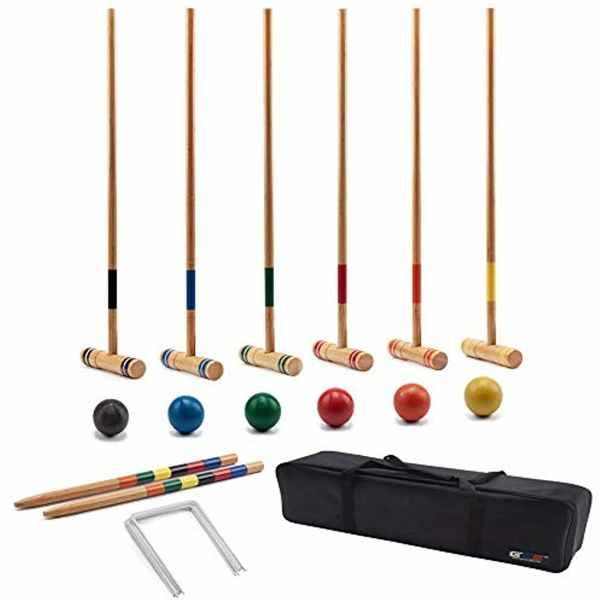 Cool Games Full Croquet Set For Kid Adult families 6 Player