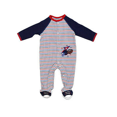 Little Me Football Footie Pajamas for Baby Boys - One-Piece Footed Sleeper - Football Pajamas For Boys