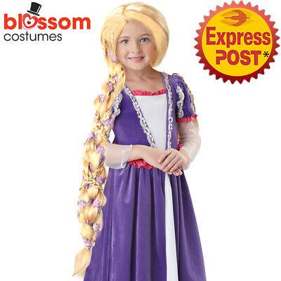 Rapunzel Wig With Flowers (W270 Rapunzel Tangled Hair Child Girls Disney Fancy Costume Wig with)