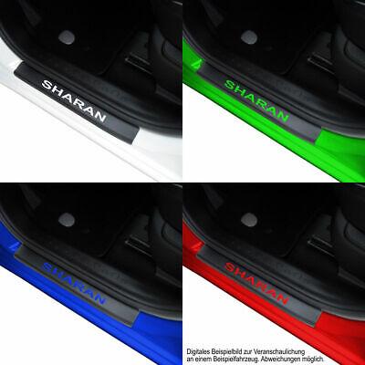 Carbon Einstiegsleisten mit Schriftzug Für VW Sharan 7N 160 µm Stark