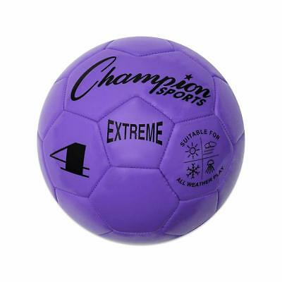 Champion Sports Extreme Soft Touch Butyl Bladder Soccer Ball, Size 4, Purple (Soft Soccer Ball)