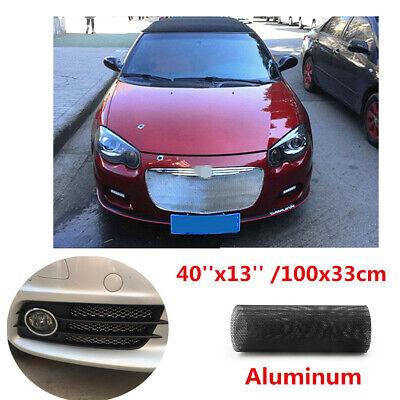 1x Black Hexagonal Aluminium Car Vehicle Bumper Grille Mesh Net Vent 40''x13''