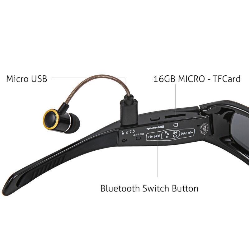 1080P HD Bluetooth Music Video Sunglasses Phone Fashion Sports Smart Glasses