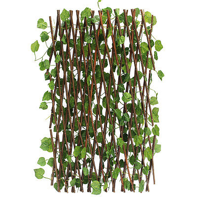 Garden Patio Yard Expandable Artificial Ivy Leaf Fence Decorations - Fence Decorations