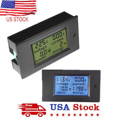 Lcd Ammeter Voltmeter Digital Volt Voltage Watt Current Power Meter Dc 100v 50a