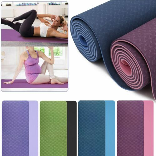 """72"""" Thick Yoga Mat Gym Camping Non-Slip Fitness Exercise Pilates Meditation Pad 2"""